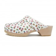 gunnels zuecos primavera mix clogs spring flowers flores print madera wood leather piel