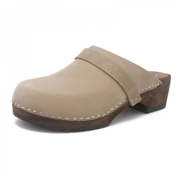gunnels zuecos nobuk leather galet clogs madera wood