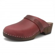 gunnels zuecos clogs madera wood burdeos burgundy nobuk lijado pull up nobuk leather