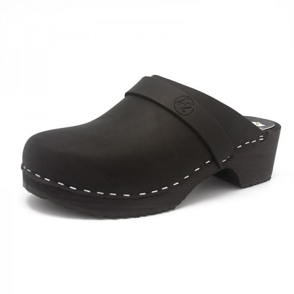 gunnels zuecos clogs wood madera black negro nobuk leather