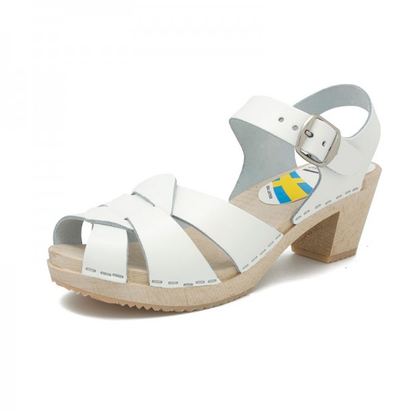 sandalia sandals gunnels zuecos clogs blanco white piel leather