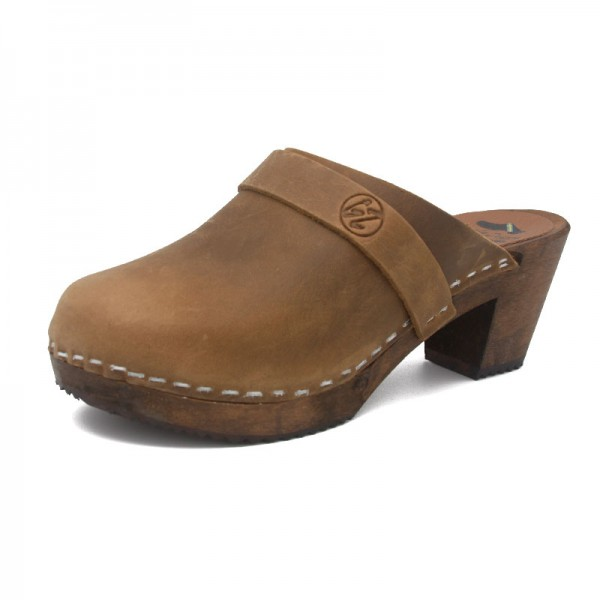 gunnels zuecos clogs gunnel nobuk leather piel marrón madera wood brown