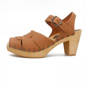 sandalias sandals nobuk cognac gunnels zuecos gunnel clogs chincheta madera wood