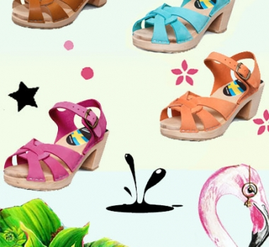 Tropical Sandals at Gunnel's Zuecos!